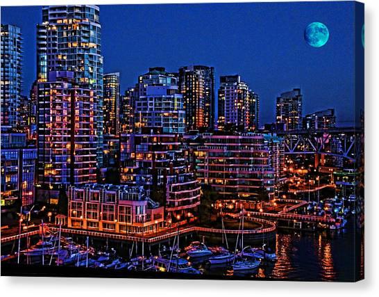 Blue Moon 2 Canvas Print