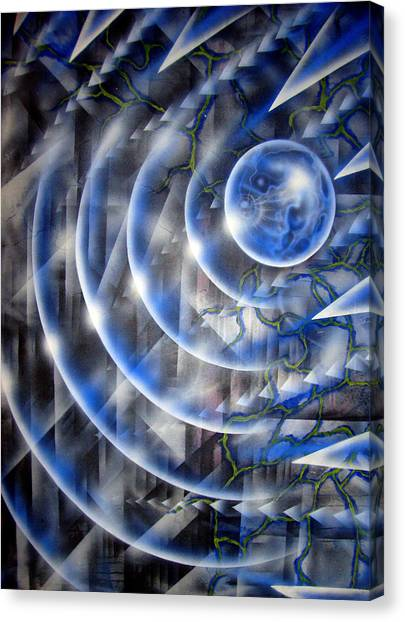 Canvas Print - Blue Moon Falling by Leigh Odom