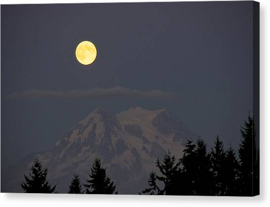 Blue Moon - Mount Rainier Canvas Print