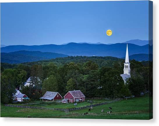 Blue Moon Rising Canvas Print