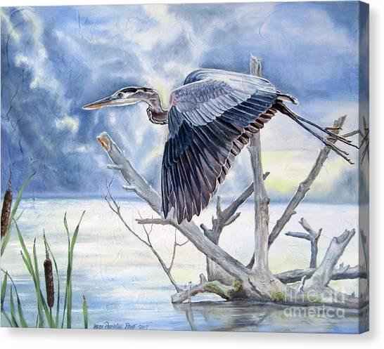 Blue Morning Flight Canvas Print