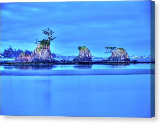 Blue Morning Siletz Bay Oregon Canvas Print