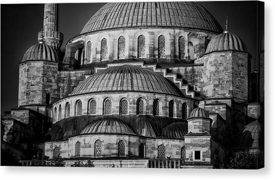 Byzantine Canvas Print - Blue Mosque Dome by Stephen Stookey