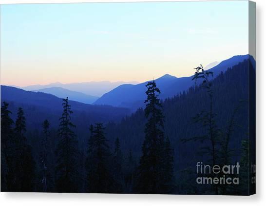 Blue Mountain Layers Canvas Print