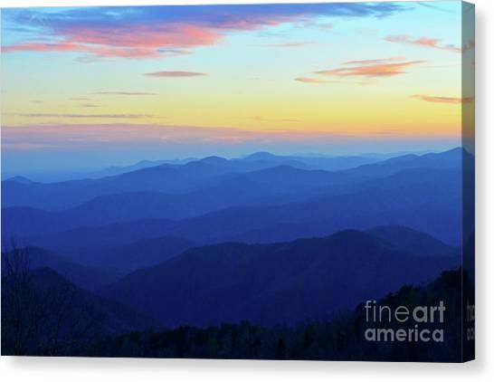Blue Mountain Majesty Canvas Print