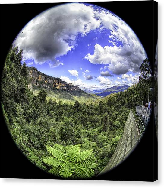 Blue Mountains Fisheye Canvas Print