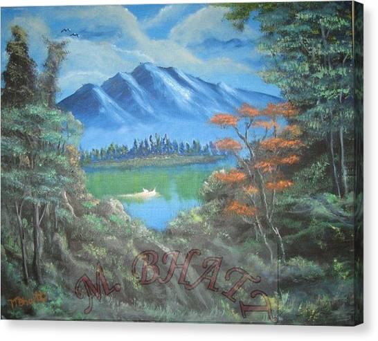 Blue Mountains Canvas Print by M Bhatt