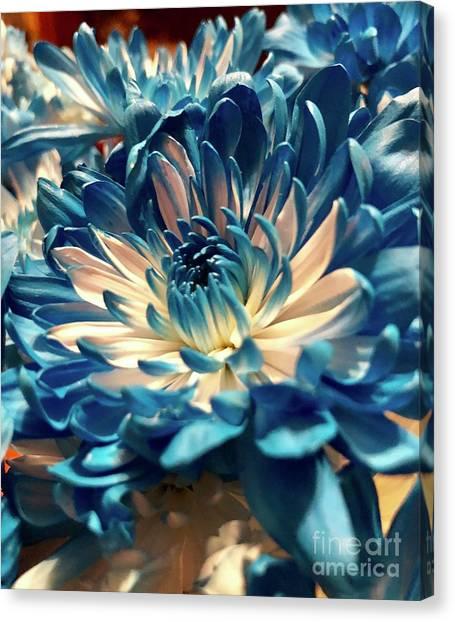 Blue Mum Canvas Print