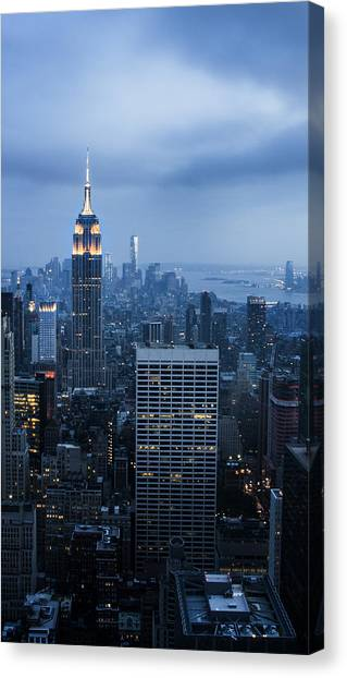Blue New York Canvas Print