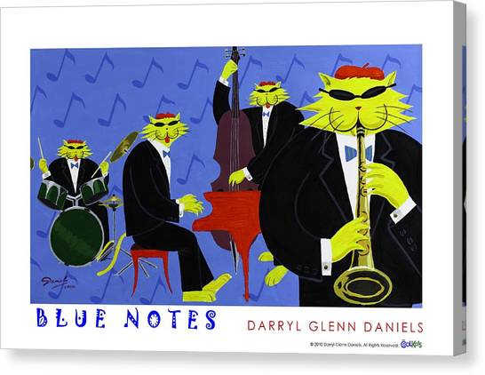 Blue Notes Canvas Print