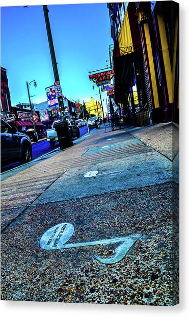 Blue Notes On Beale Canvas Print