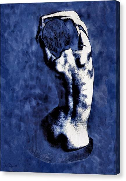 Nude Canvas Print - Blue Nude After Picasso by Joe Bonita