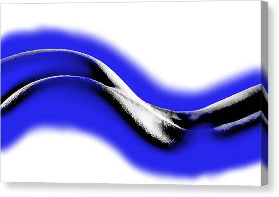 Abstract Nude Canvas Print - Blue Nude by Gary Dow
