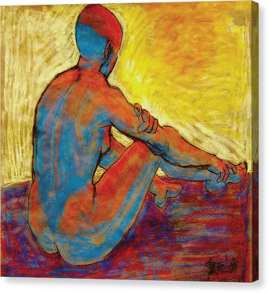 Blue Nude Canvas Print by Ilene Skeen