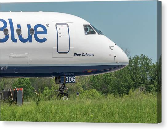 Jetblue Canvas Print - Blue Orleans by Guy Whiteley