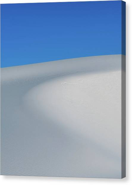 White Sand Canvas Print - Blue Over White by Joseph Smith