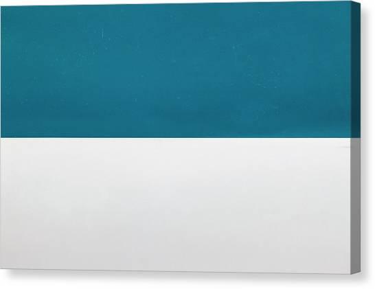 Canvas Print - Blue Over White by Richard Nixon