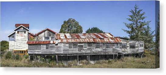 Canvas Print featuring the photograph Blue Ox Millworks by Jon Exley
