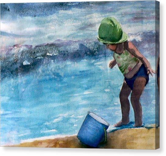 Blue Pail Canvas Print