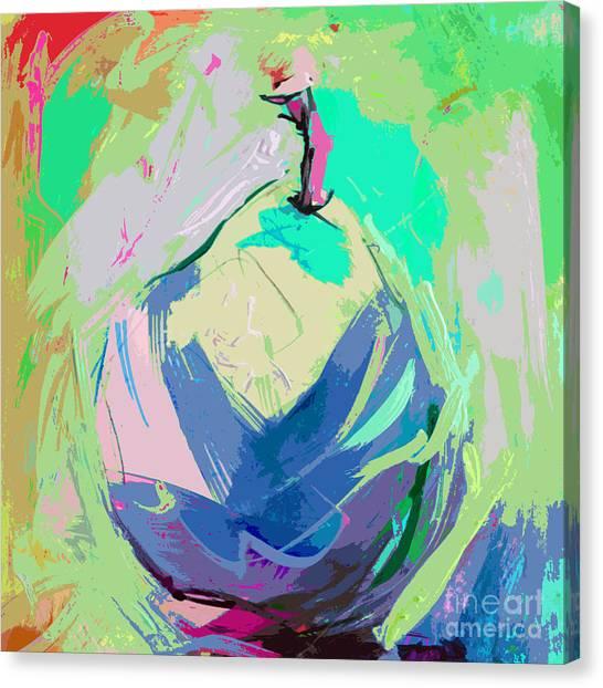Blue Pear Canvas Print
