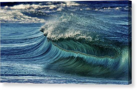 Watersports Canvas Print - Blue Pearl  by Stelios Kleanthous