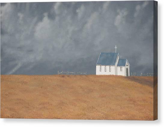 Blue Plains Church Canvas Print by Candace Shockley