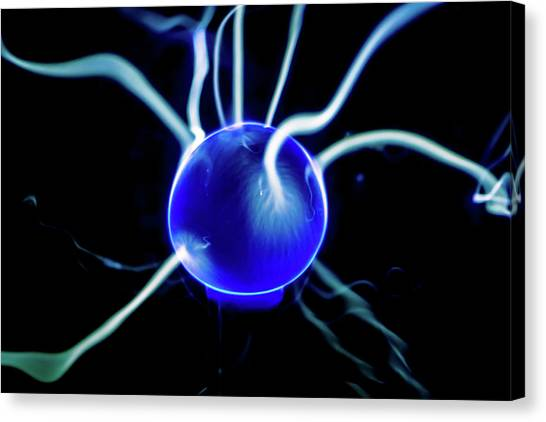 Blue Plasma Canvas Print