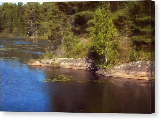 Blue Pond Marsh Canvas Print