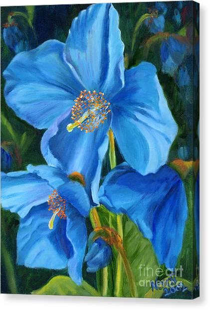 Blue Poppy Canvas Print