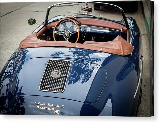 Blue Porche 356 Canvas Print