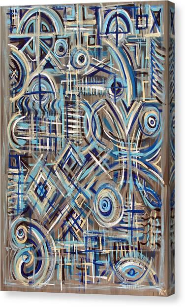 Blue Raucous Canvas Print