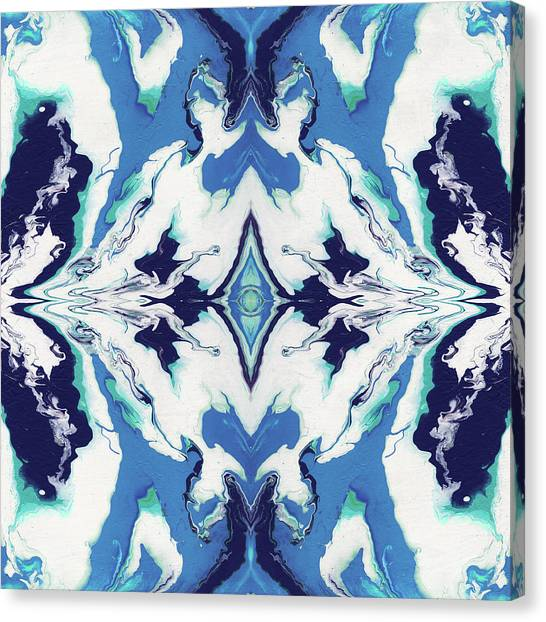 Fluids Canvas Print - Blue Rhapsody Double- Art By Linda Woods by Linda Woods