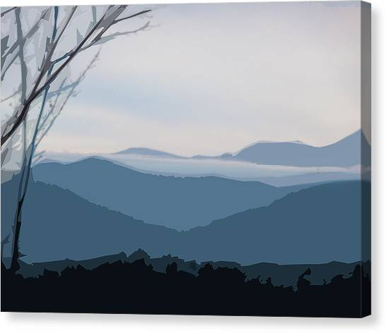 Blue Ridge Above The Clouds Canvas Print