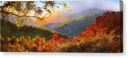 Blue Ridge At Fall Canvas Print