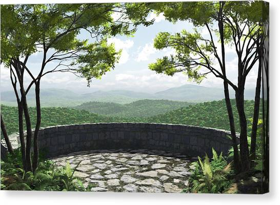 Mountain View Canvas Print - Blue Ridge by Cynthia Decker