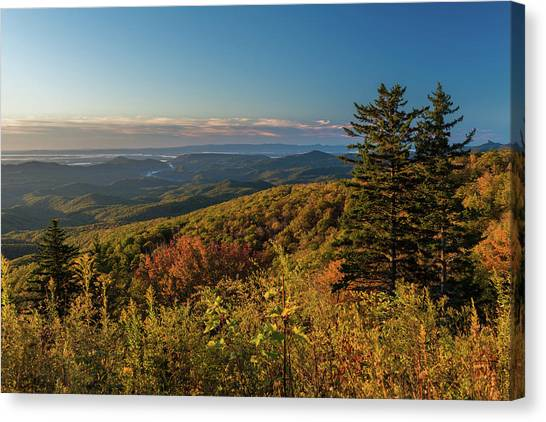 Blue Ridge Mountain Autumn Vista Canvas Print