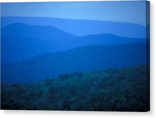 Canvas Print - Blue Ridge Mountains by Carl Purcell