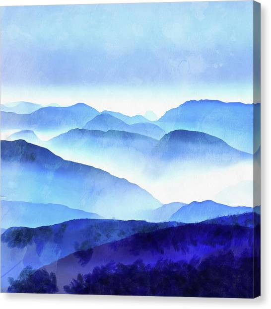 Color Canvas Print - Blue Ridge Mountains by Edward Fielding