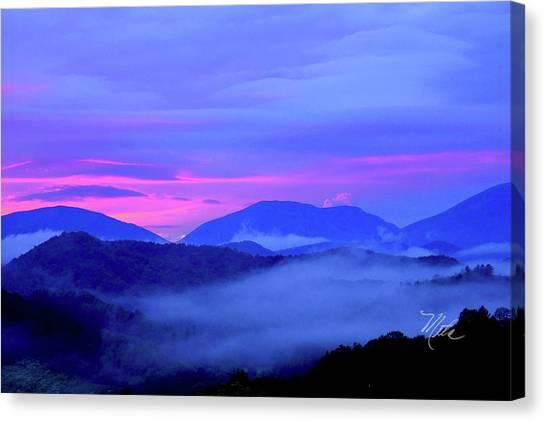 Blue Ridge Mountains Sunset Canvas Print