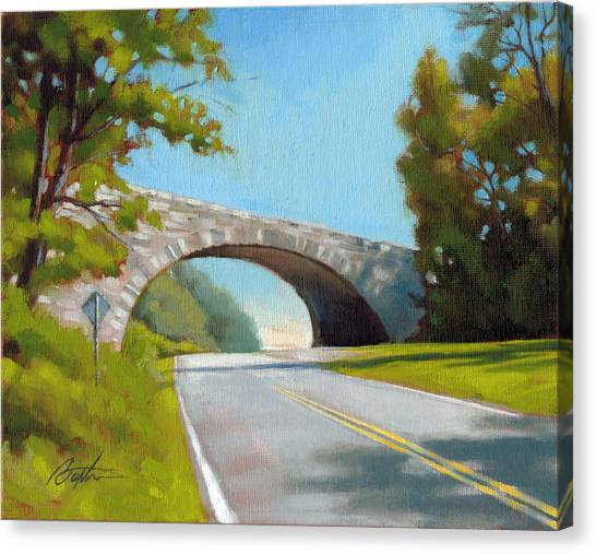 Blue Ridge Parkway Canvas Print - Blue Ridge Overpass by Todd Baxter