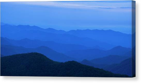 Blue Ridge Parkway Canvas Print - Blue Ridge Panorama by Andrew Soundarajan