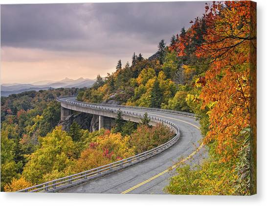 Lynn Cove Viaduct-blue Ridge Parkway  Canvas Print