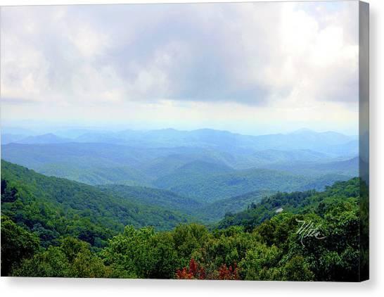 Blue Ridge Parkway Overlook Canvas Print