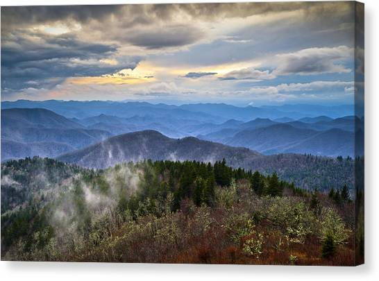 Blue Ridge Parkway Canvas Print - Blue Ridge Parkway Scenic Landscape Photography - Blue Ridge Blues by Dave Allen