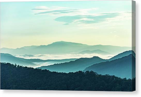 Blue Ridge Pastel Canvas Print