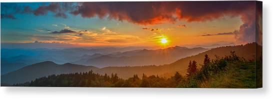Blue Ridge Sunset Pano Canvas Print