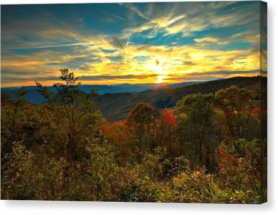 Blue Ridge Sunsets Canvas Print