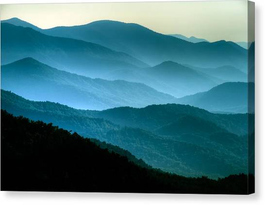 Blue Ridges Canvas Print