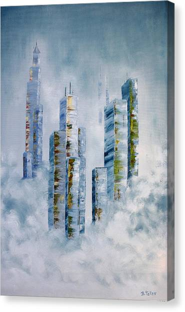 Blue Rising Canvas Print