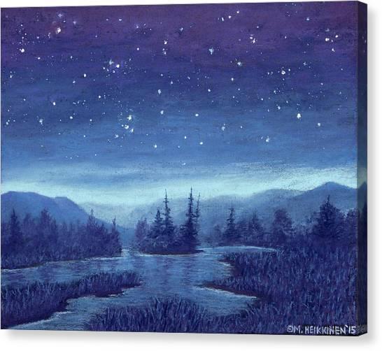 Blue River 01 Canvas Print